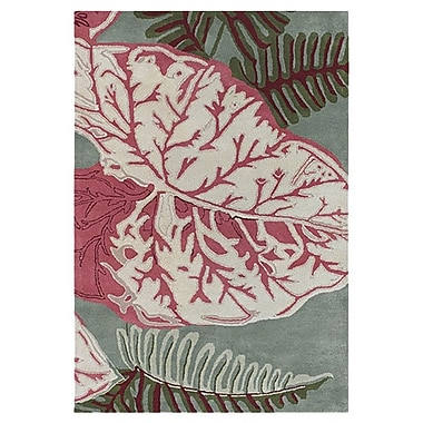 Chandra Kronos Red/Green Area Rug; 5' x 7'6''