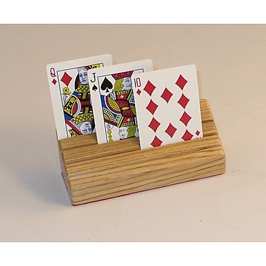 Square Root Games Wood Card Holder