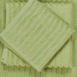 Yala Bamboo Dreams Organic Cotton Ribbed Wash Cloth; Green Tea