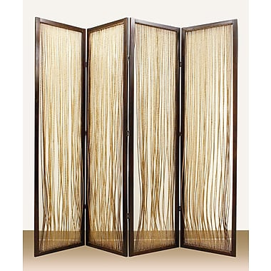 Screen Gems 84'' x 84'' Lahaina 4 Panel Room Divider