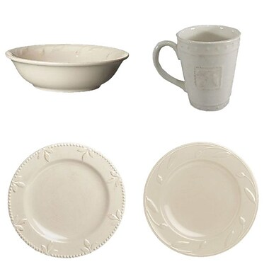 Signature Housewares Sorrento 4 Piece Place Setting; Ivory