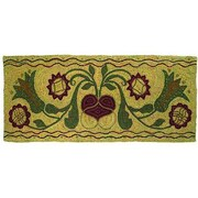 Homespice Decor Hooked Green Padula Flowers Area Rug; 2' x 5'