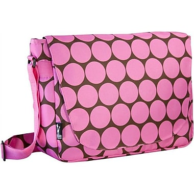 Wildkin Big Dots Laptop Messenger Bag; Pink