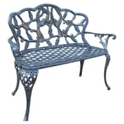 Oakland Living Hummingbird Aluminum Garden Bench; Antique Pewter