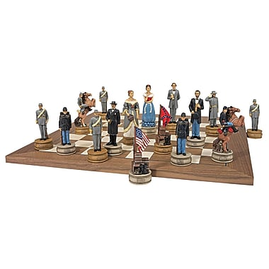Design Toscano Civil War Sculptural Chess Set