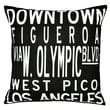 Uptown Artworks Dowtown LA Linen Throw Pillow