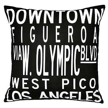 Uptown Artworks Dowtown LA Throw Pillow