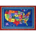 Fun Rugs Fun Time State Capitals Classroom Area Rug; 8' x 11'