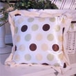 Brandee Danielle Ash Polka Dot Pillow; Lemon Polka Dot