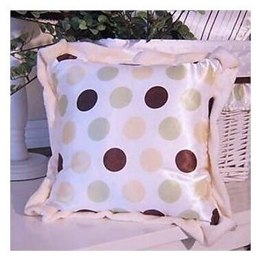 Brandee Danielle Ash Polka Dot Throw Pillow; Lemon Polka Dot