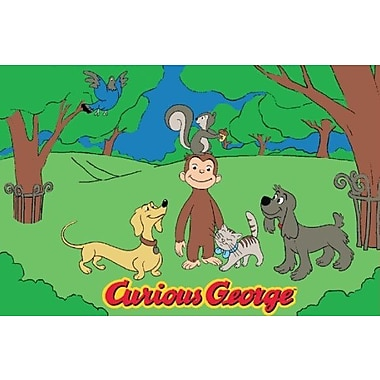 Fun Rugs Curious George and Friends Kids Rug; 1'7'' x 2'5''