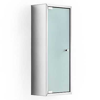 WS Bath Collections Linea Pika 9.8'' x 23.6'' Surface Mount Medicine Cabinet; Frosted