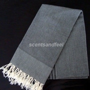 Scents and Feel Fouta Bath Towel; Black