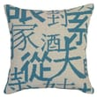 123 Creations Chinese Characters Needlepoint Pillow; Blue