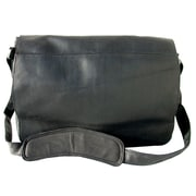 Piel Messenger Bag; Black