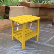 Malibu Outdoor Living End Table; Yellow