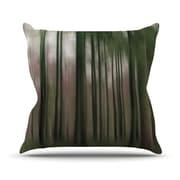 KESS InHouse Forest Blur Polyester Throw Pillow; 20'' H x 20'' W
