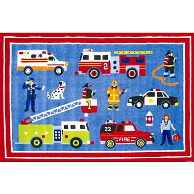 Fun Rugs Olive Kids Hero Blue Area Rug; 3'3'' x 4'10''