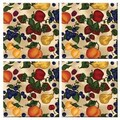 McGowan Tuftop Fruit Collage Coasters (Set of 4)