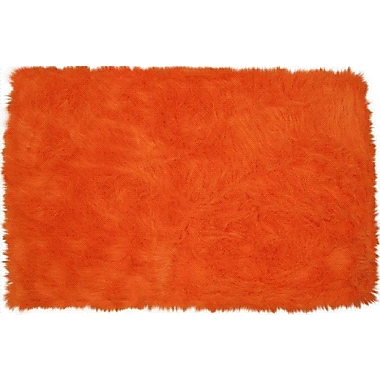 Fun Rugs Flokati Orange Kids Rug; 2'7'' x 3'11''
