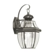 Livex Lighting Monterey 1 Light Outdoor Wall Lantern; Black