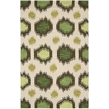 Nourison Siam Beige/Green Area Rug; 8' x 10'6''