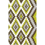 Beth Lacefield Alameda Hand woven Brown/Green Area Rug; 5' x 8'