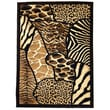 DonnieAnn Company Skinz 70 Mixed Brown Animal Skin Prints Patchwork Area Rug; 7' x 5'