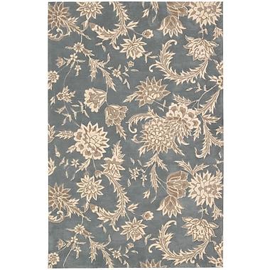 Nourison Gatsby Gray Floral Slate Area Rug; 5' x 7'6''