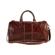 Tony Perotti Verona 21.26'' Italian Leather Weekender Duffel; Dark Brown