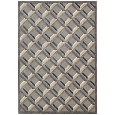 Nourison Graphic Illusions Black/Gray Geometric Area Rug; 2'3'' x 3'9''