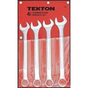 TEKTON 4 Piece Jumbo Combination Wrench Set