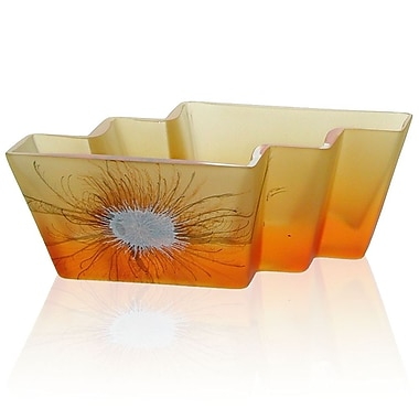 Womar Glass Desert Flower Decorative Bowl