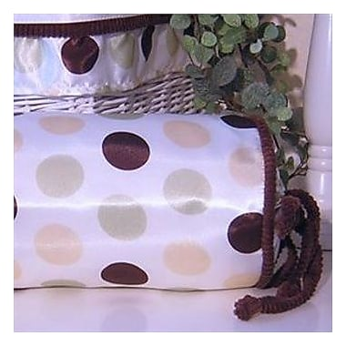 Brandee Danielle Ash Polka Dot Bolster Pillow; Lemon