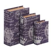 Woodland Imports Paris Lifestyle Theme Book Box (Set of 3)