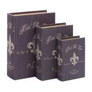 Woodland Imports Paris Hotel Theme Book Box (Set of 3)
