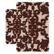 Chesapeake Iron Gate 2 Piece Bath Rug Set; Linen and Chocolate