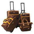 American Flyer AF Signature 4 Piece Luggage Set; Chocolate Gold