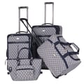 American Flyer AF Signature 4 Piece Luggage Set; Navy