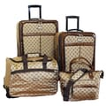 American Flyer Signature Expandable 4 Piece Luggage Set; Brown