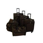 American Flyer Madrid 5 Piece Spinner Luggage Set; Brown