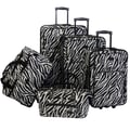 American Flyer Animal Print 5 Piece Luggage Set; Zebra