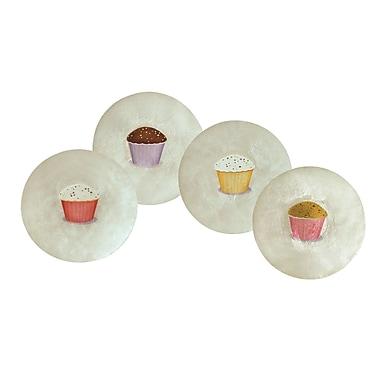 Dekorasyon Capiz Cupcakes Plate (Set of 4)