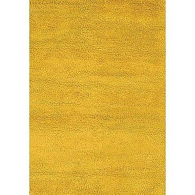Chandra Strata Yellow Area Rug; 5' x 7'6''