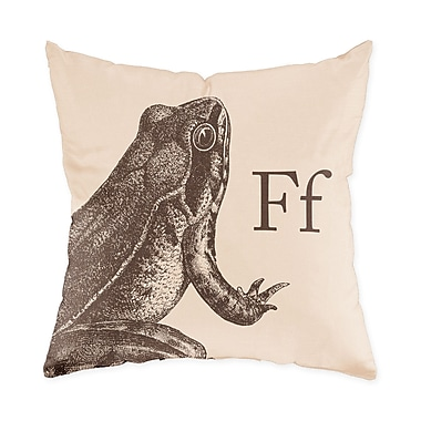 Checkerboard Frog Throw Pillow; Sand