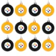 Forever Collectibles NFL Ball Ornament (Set of 12); Pittsburgh Steelers