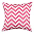 Chooty & Co Zig Zag Cotton Pillow; Candy Pink