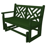 POLYWOOD  Chippendale Glider; Hunter Green