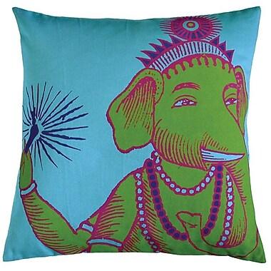 Koko Company Bazaar Throw Pillow; Turquoise
