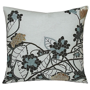 Kevin O'Brien Studio Hydrangea Embellished Decorative Throw Pillow; Dusk